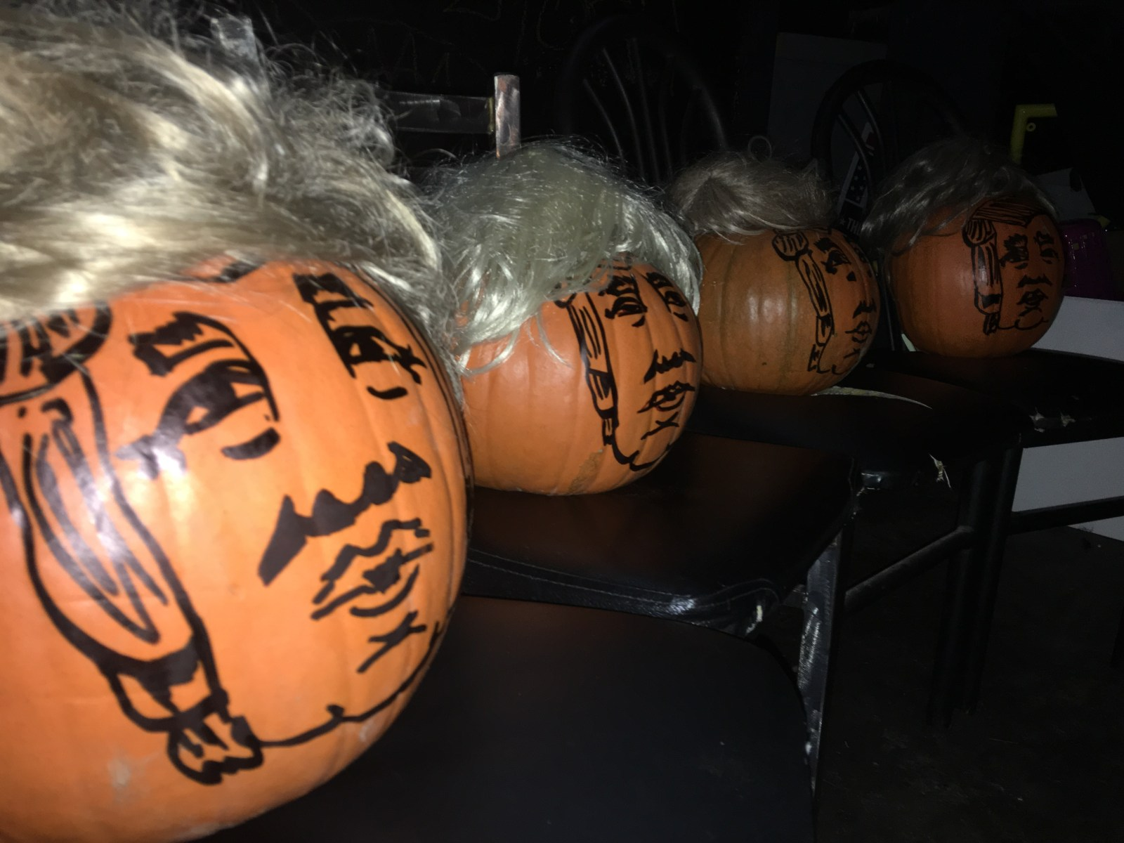 Halloween pumpkins Smashing Trumpkins Donald Trump presidential candidate game smash PDX Portland late-night talk show comedy comedian Who's the Ross? Aaron improv sketch humor funny Dante's