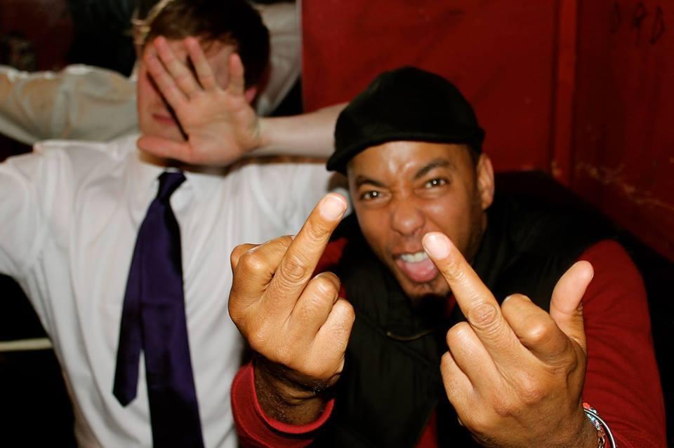 "Slimkid3 Pharcyde TRDMRK hip-hop rap rapper mc comedian Aaron Ross talk show humor funny interview history legend show live ""Who's the Ross?"""