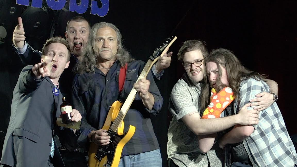 """Dave Dahl """"Dave's Killer Bread"""" killer bread PDX Portland interview talk guitar music performance 2017 live interview Aaron Ross """"Who's the Ross?"""" talk show comedian"""