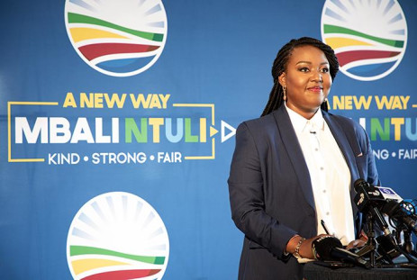 Mbali Ntuli of the Democratic Alliance. Picture: Xanderleigh Dookey/EWN.