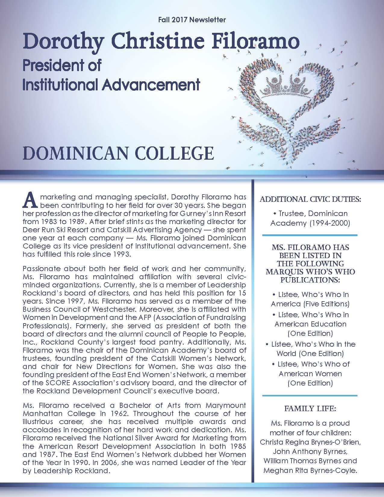 Filoramo, Dorothy 3630314_30592101 Newsletter