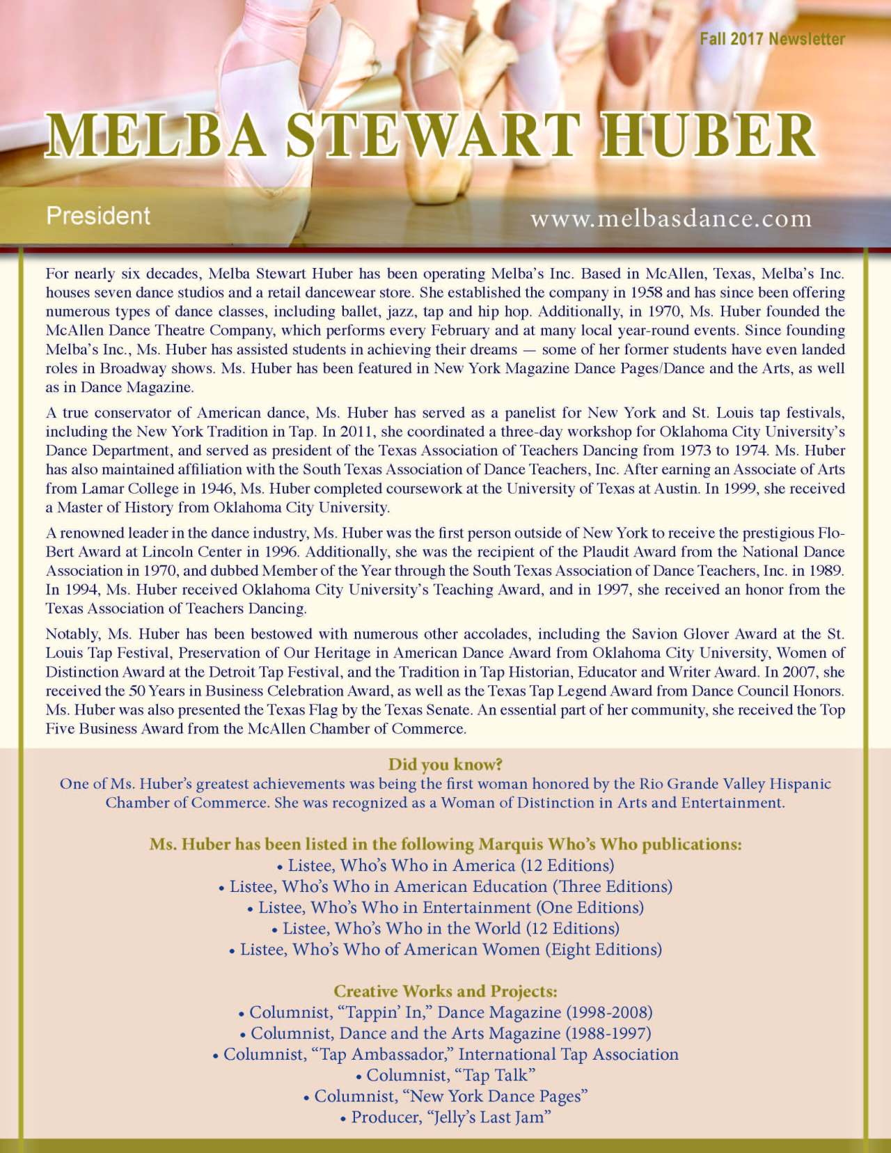 Huber, Melba 2156537_26062596 Newsletter.jpg