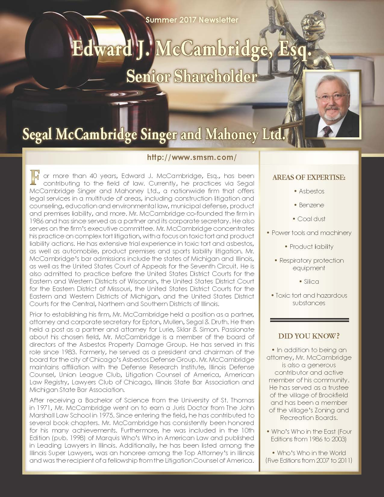 McCambridge, Edward 3673106_2709617 Newsletter