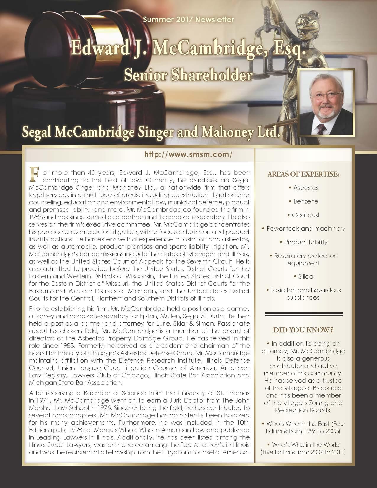McCambridge, Edward 3673106_2709617 Newsletter