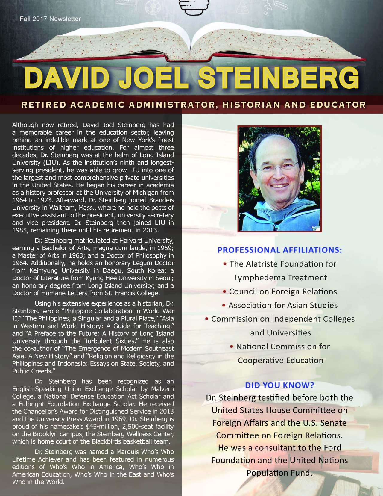 Steinberg, David 3654075_3896755 Newsletter