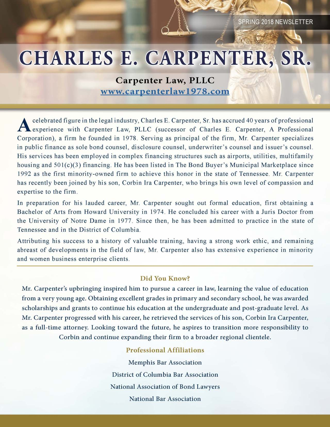 Carpenter, Charles 3718705_4003718705 Newsletter REVISED