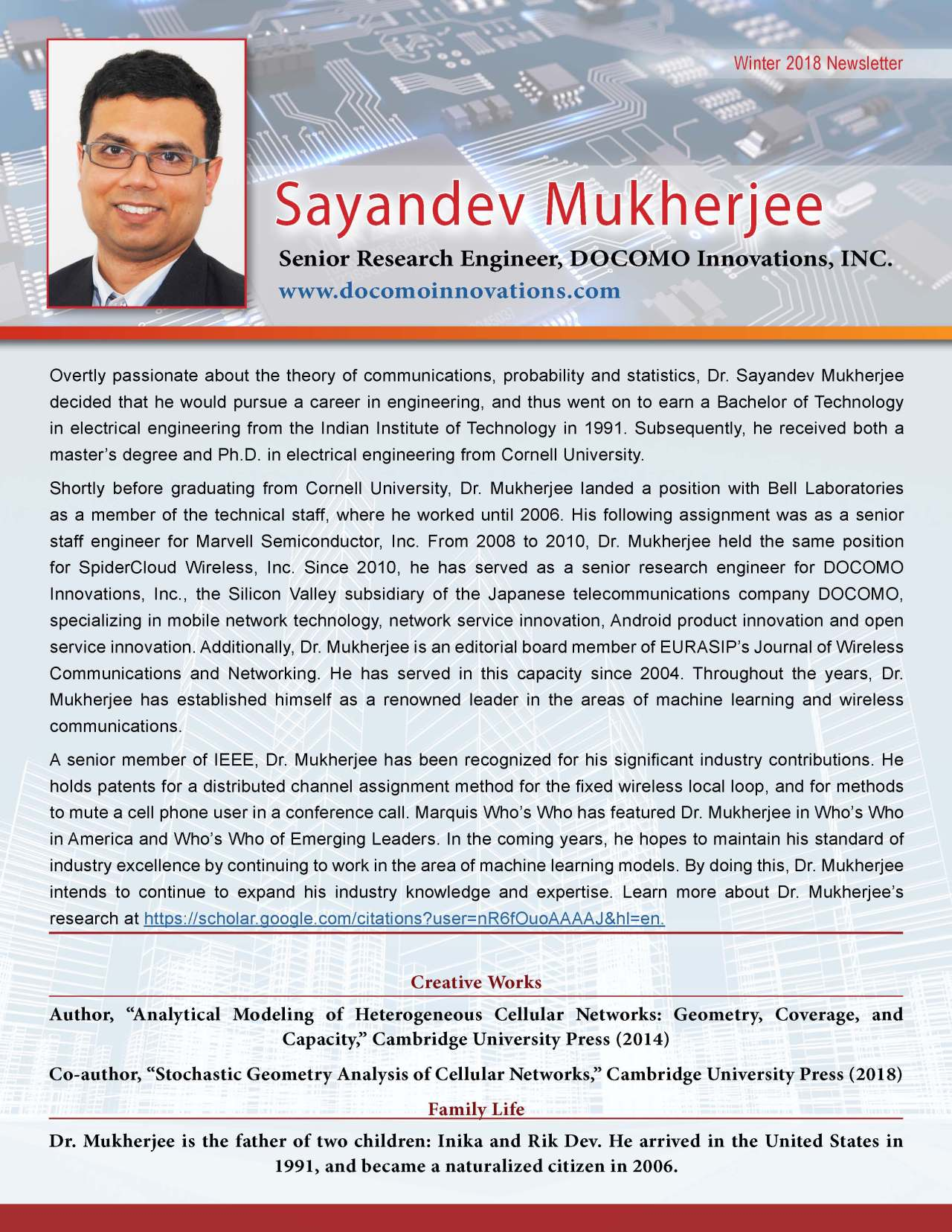 Mukherjee, Sayandev 3698803_32652597 Newsletter REVISED
