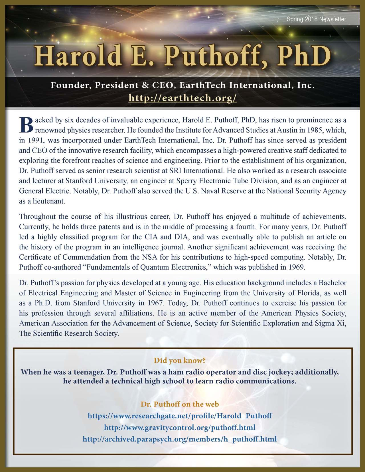 Puthoff, Harold 3688207_4003688207 Newsletter REVISED