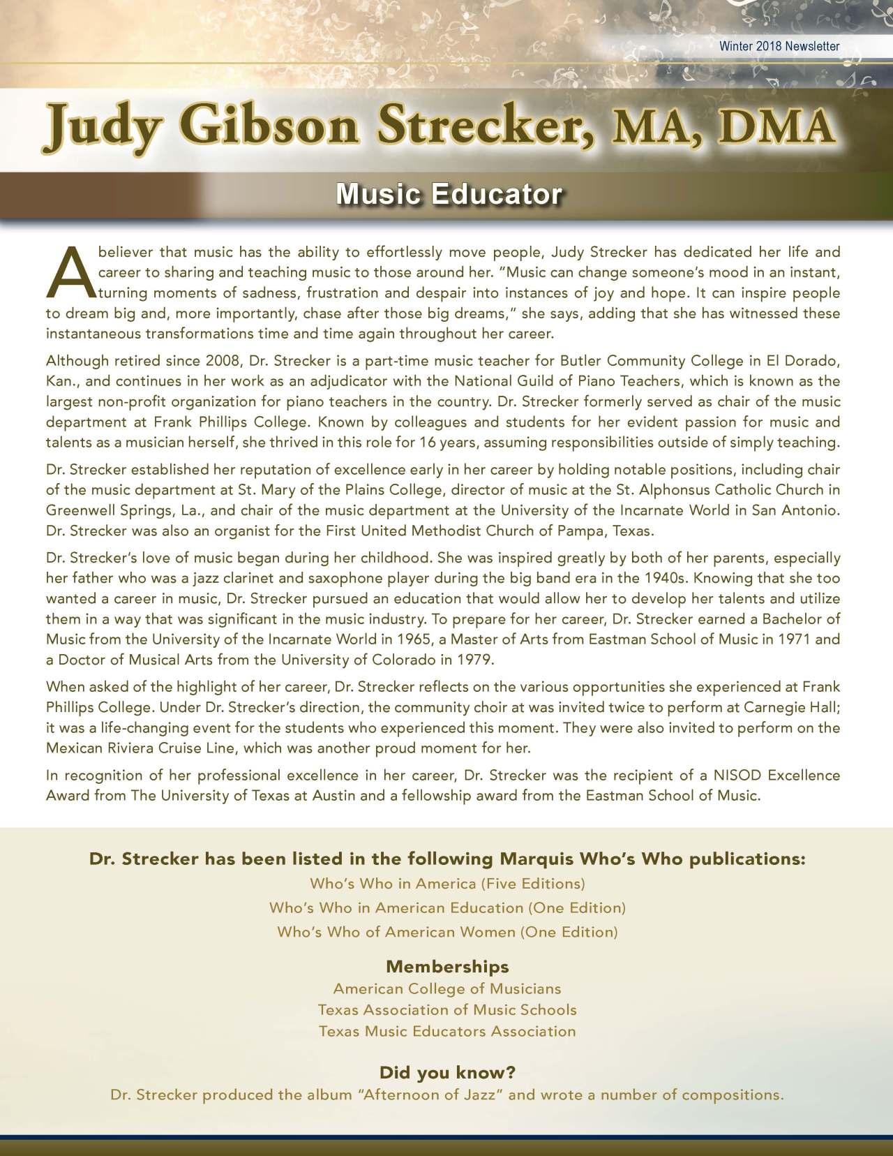 Strecker, Judy 3646949_30822528 Newsletter