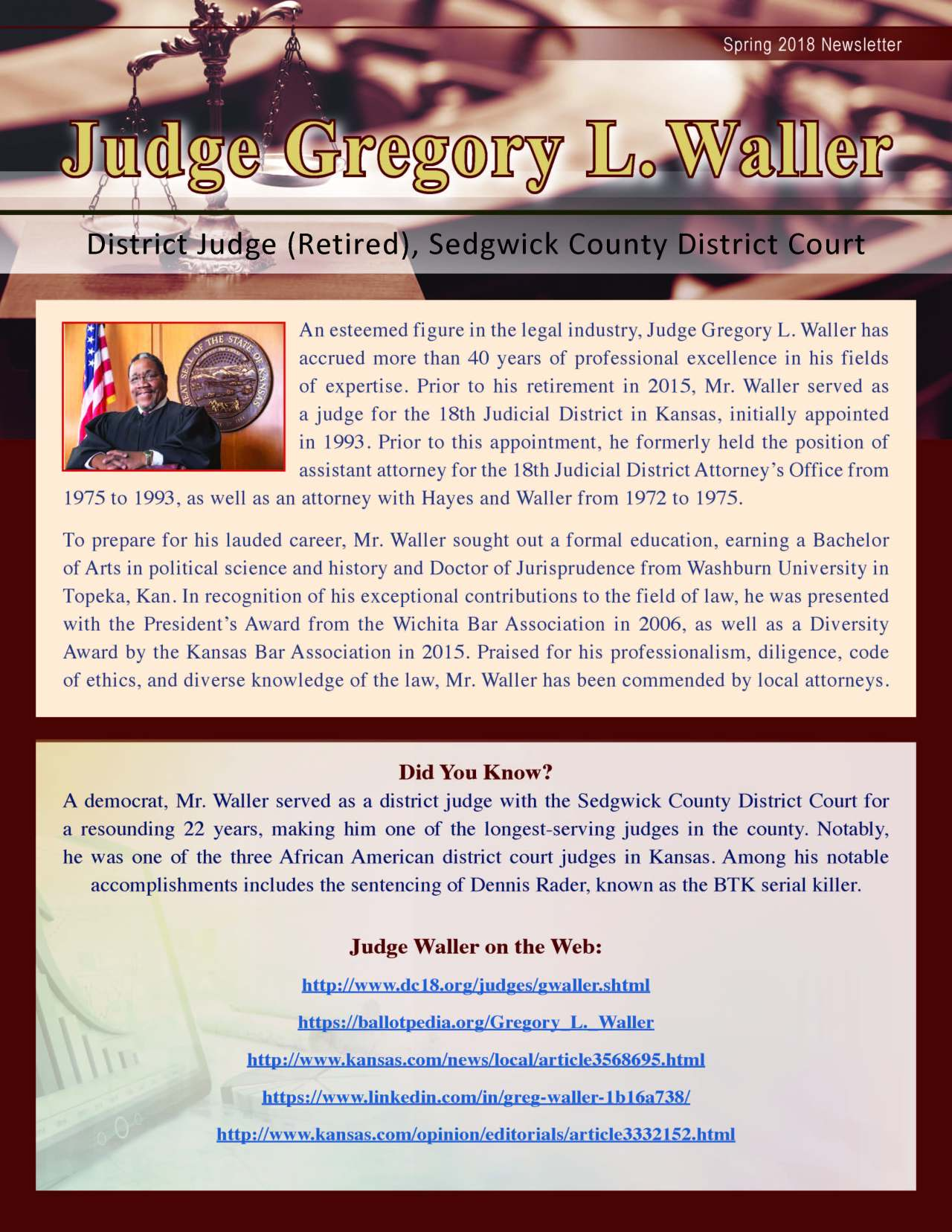 Waller, Gregory 3686131_4003686131 Newsletter