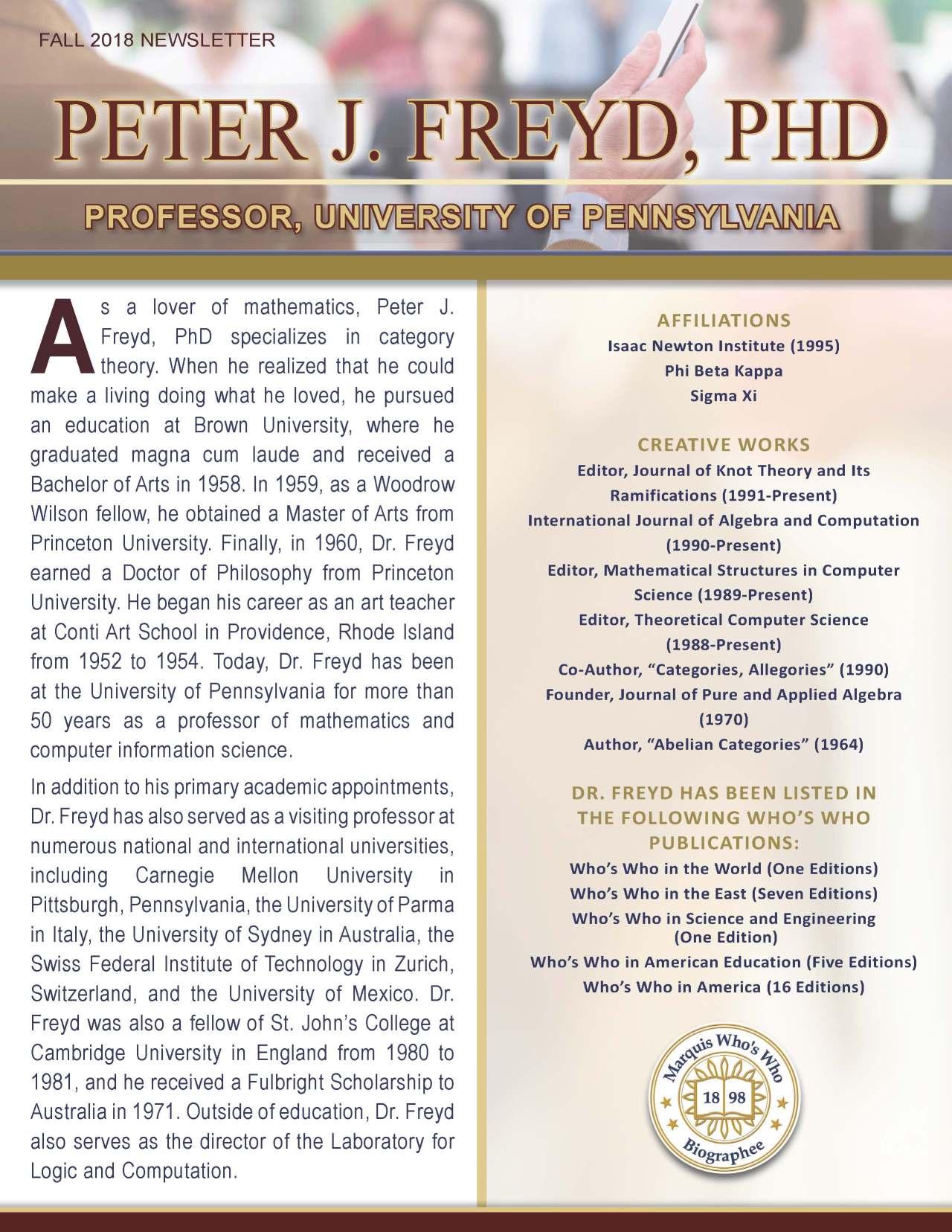 Freyd, Peter 4109693_2361431 Newsletter.jpg