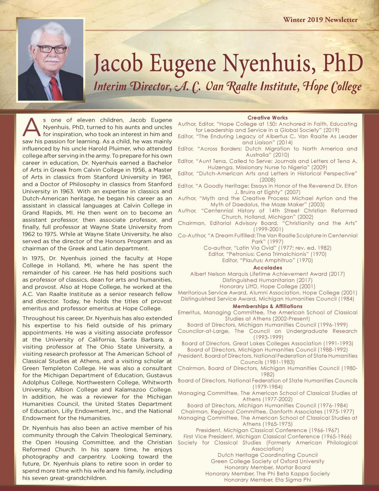 Nyenhuis, Jacob 2132638_3865573 Newsletter REVISED