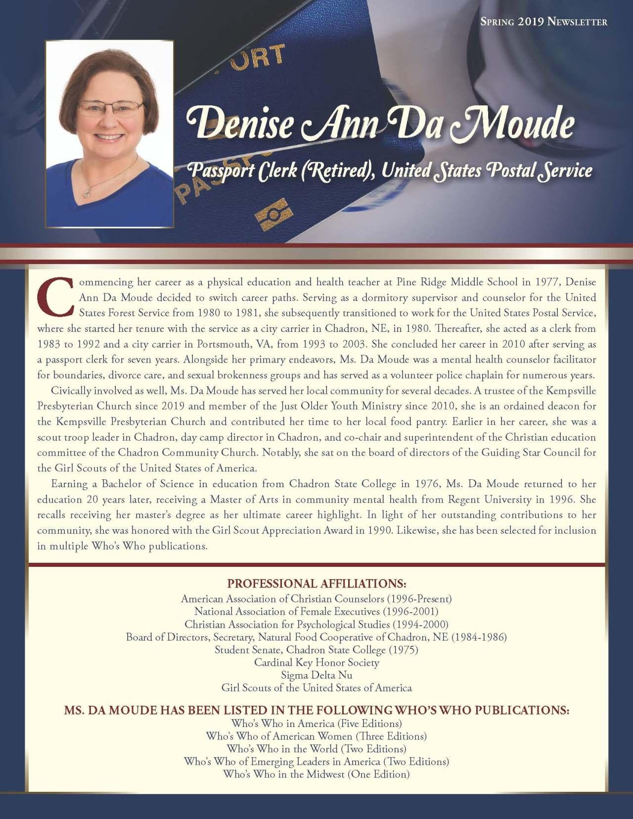 DaMoude, Denise 4215449_18431361 Newsletter REVISED