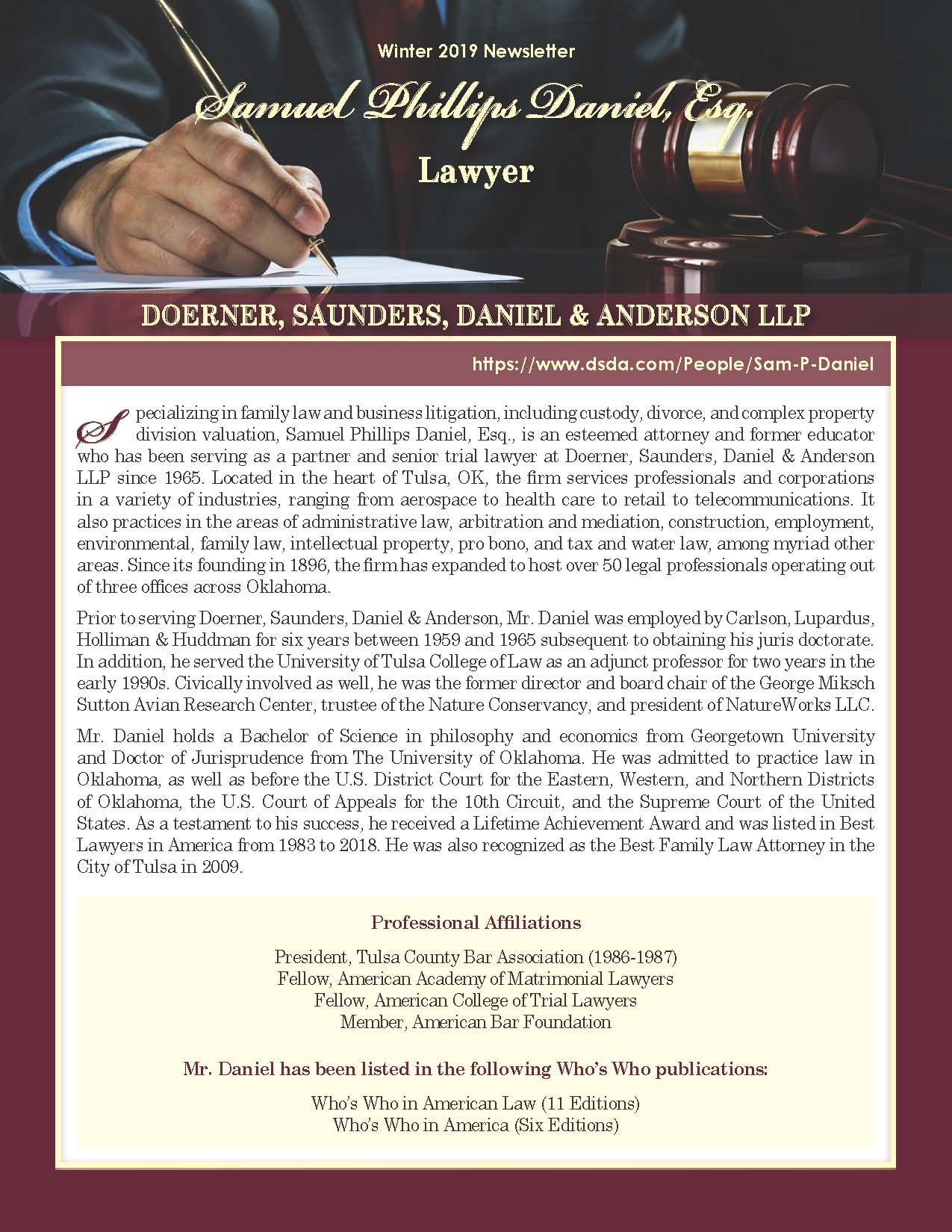 Daniel, Samuel 4216050_22943435 Newsletter