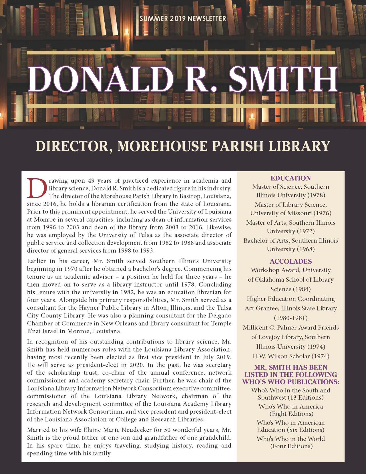 Smith, Donald 4382781_18087320 Newsletter REVISED