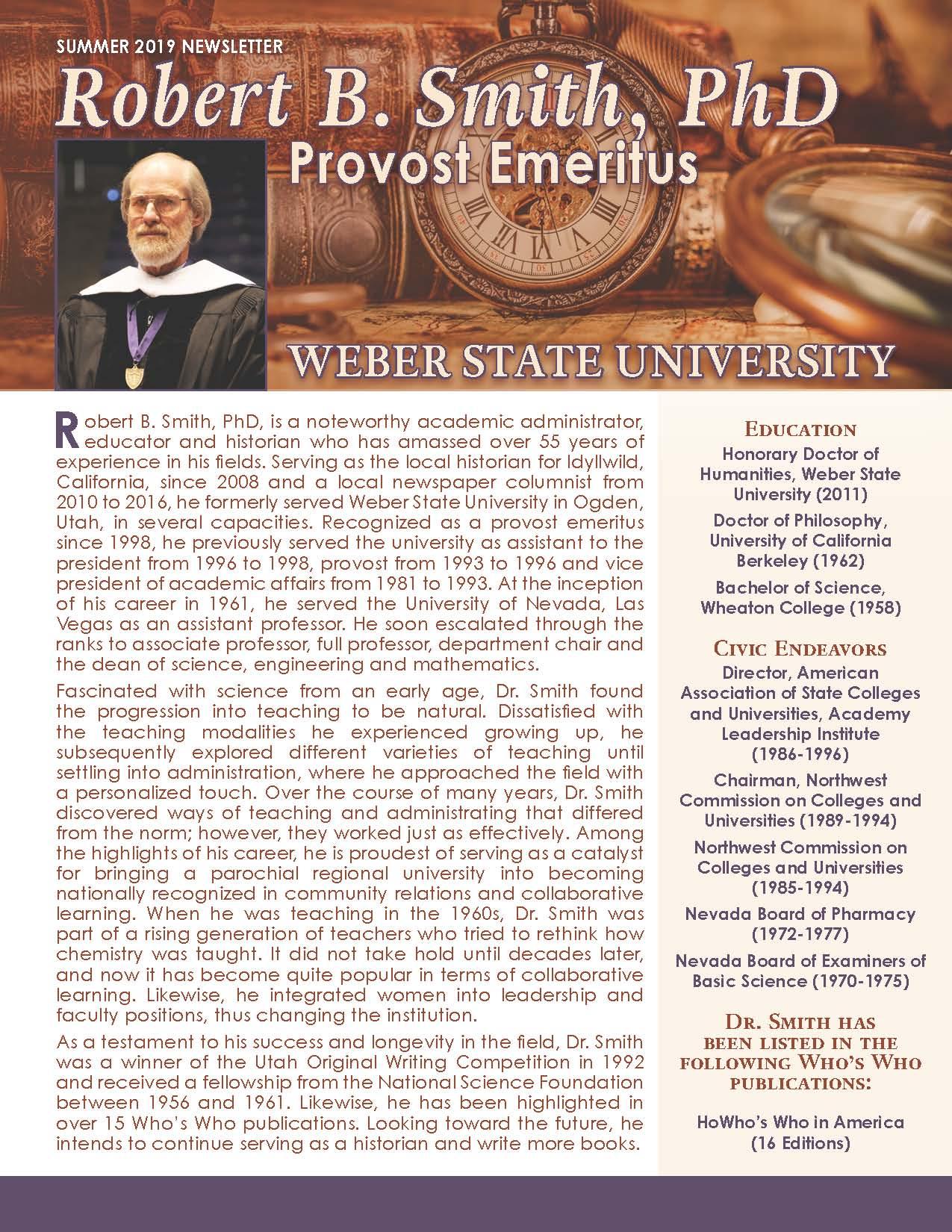 Smith, Robert 4257705_2633097 Newsletter