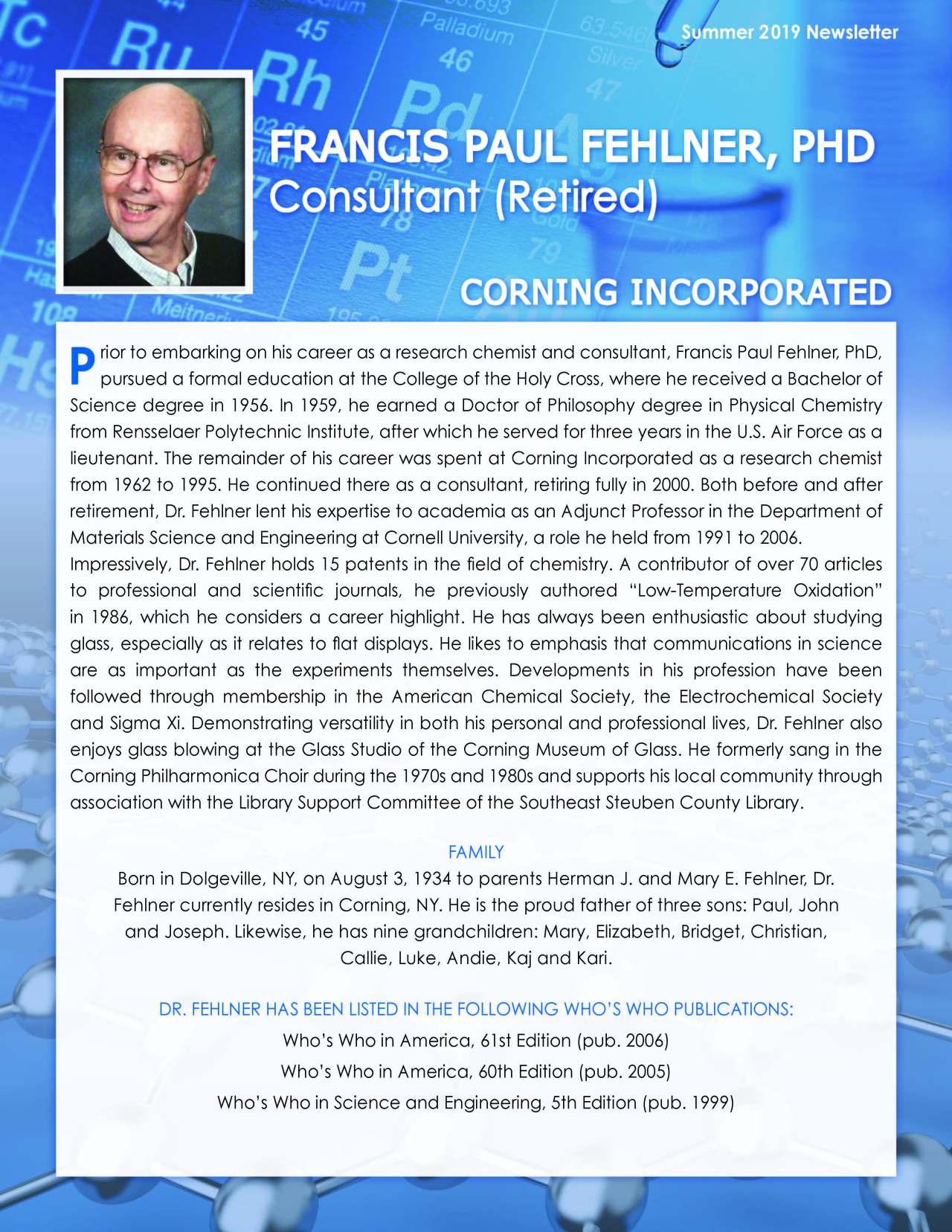 Fehlner, Francis 4124316_28207108 Newsletter REVISED