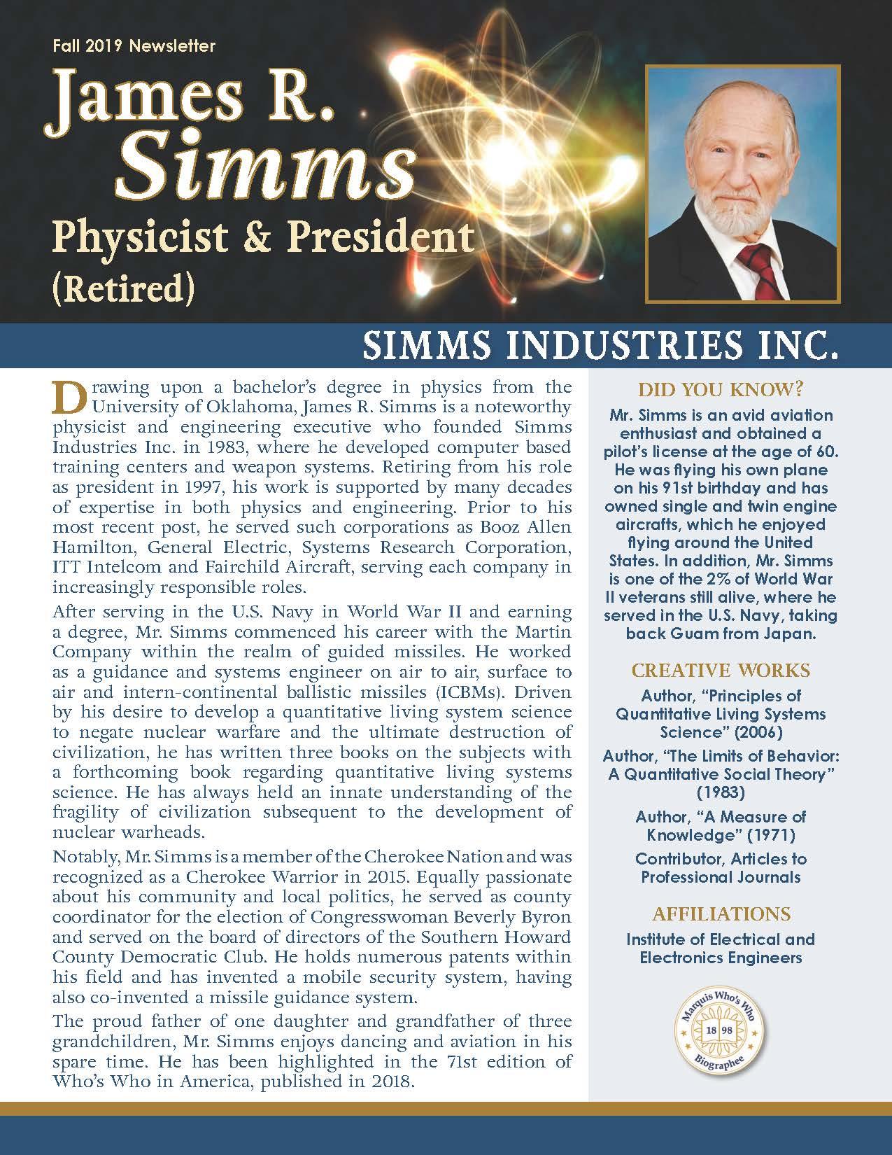 Simms, James 3701236_4003701236 Newsletter