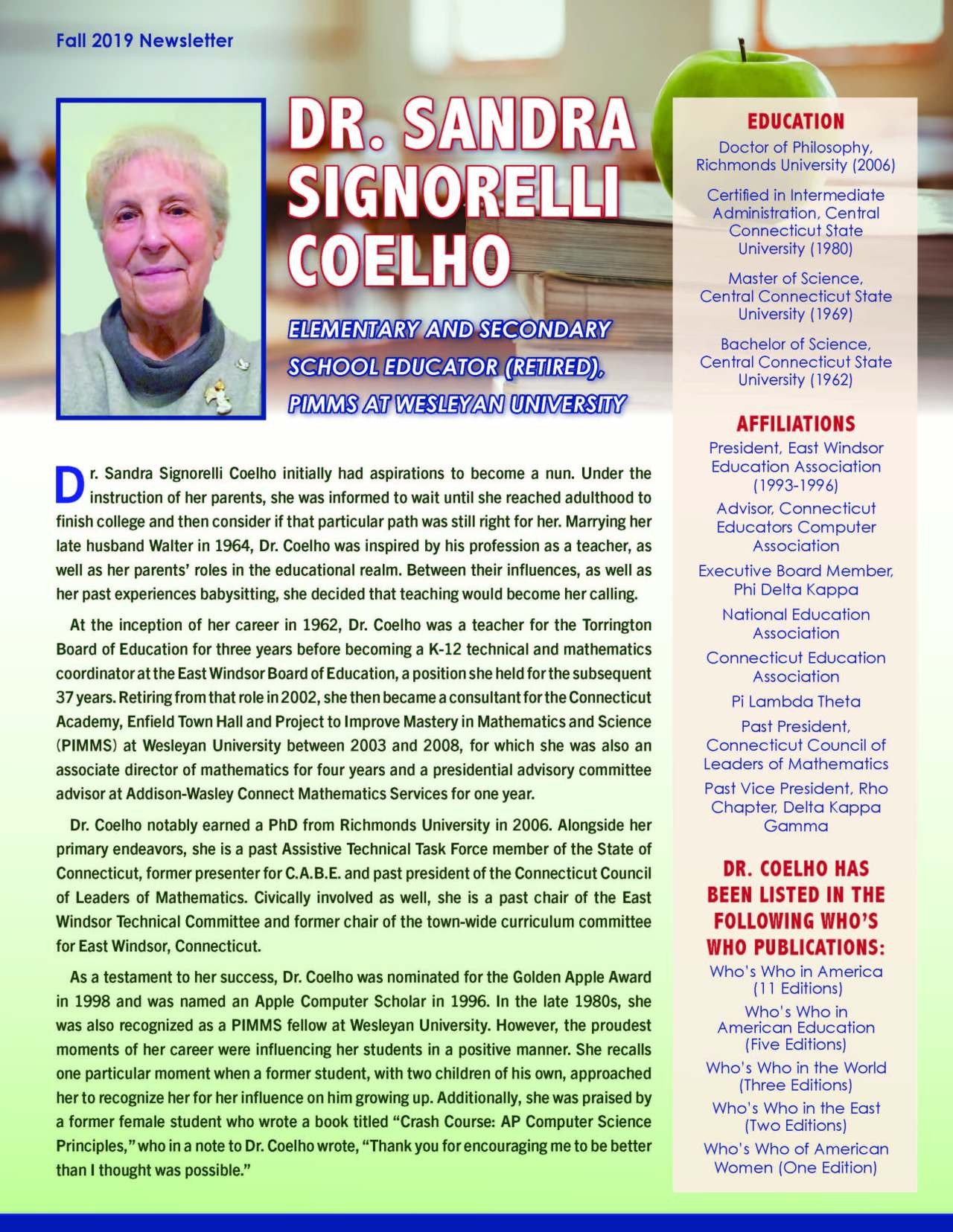 Coelho, Sandra 4385916_19834084 Newsletter REVISED