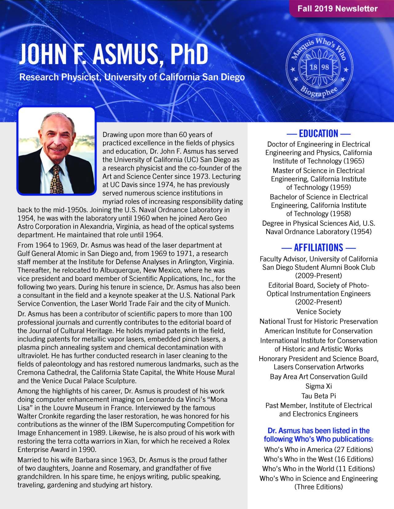Asmus, John 4488204_2232498 Newsletter