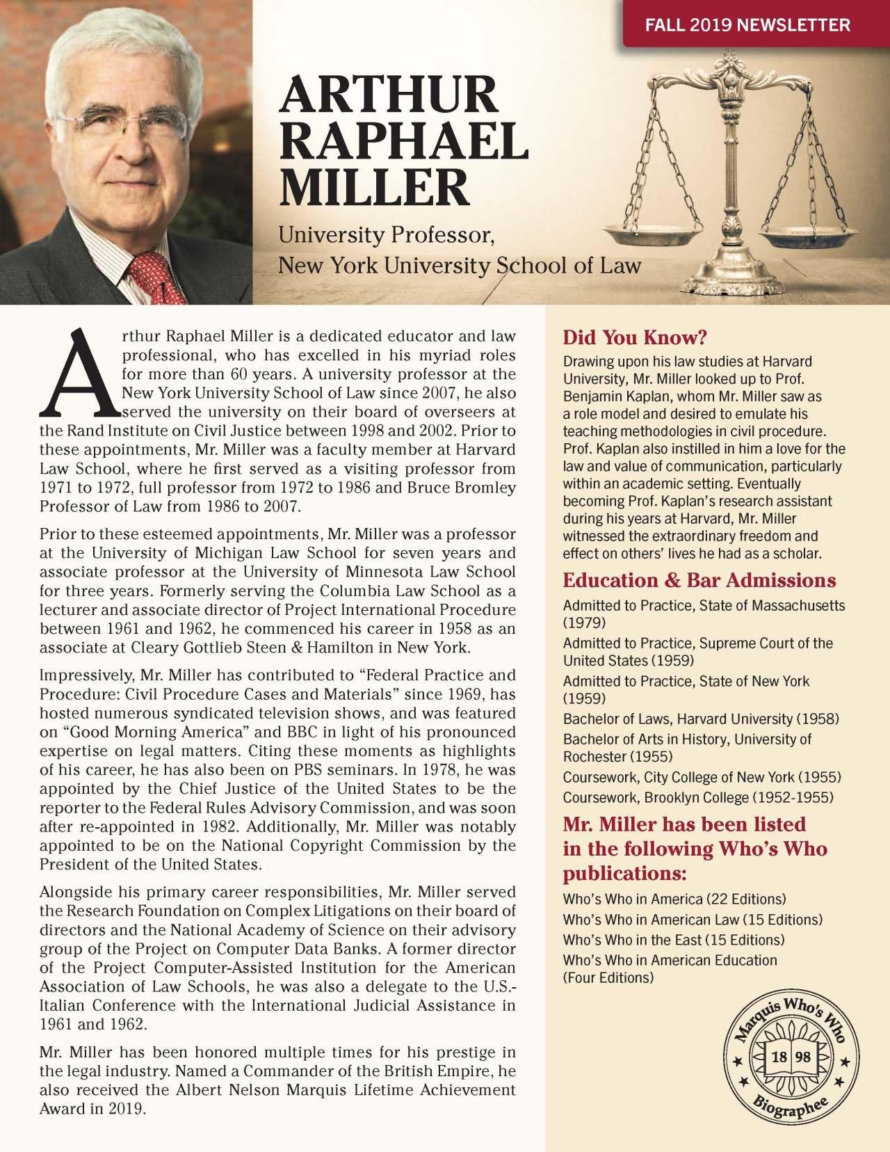 Miller, Arthur 4131770_2537508 Newsletter