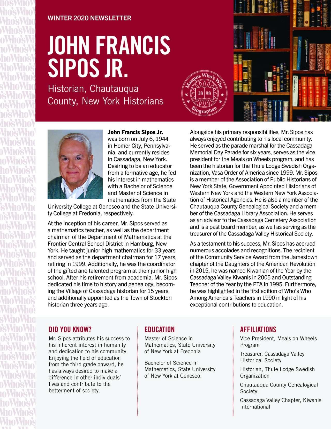Sipos, John 4791488_4004791488 Newsletter REVISED jpeg