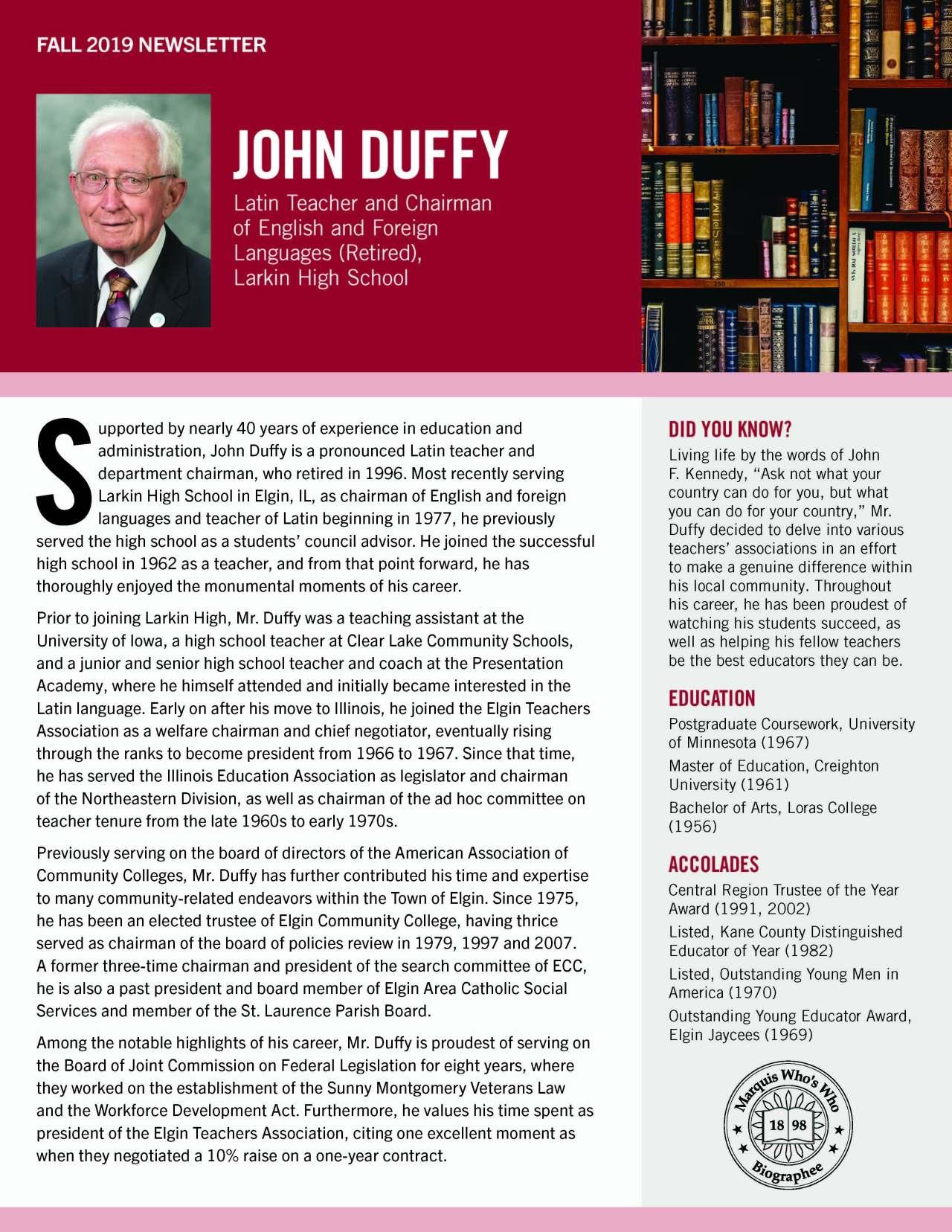 Duffy, John 4277627_25358029 Newsletter