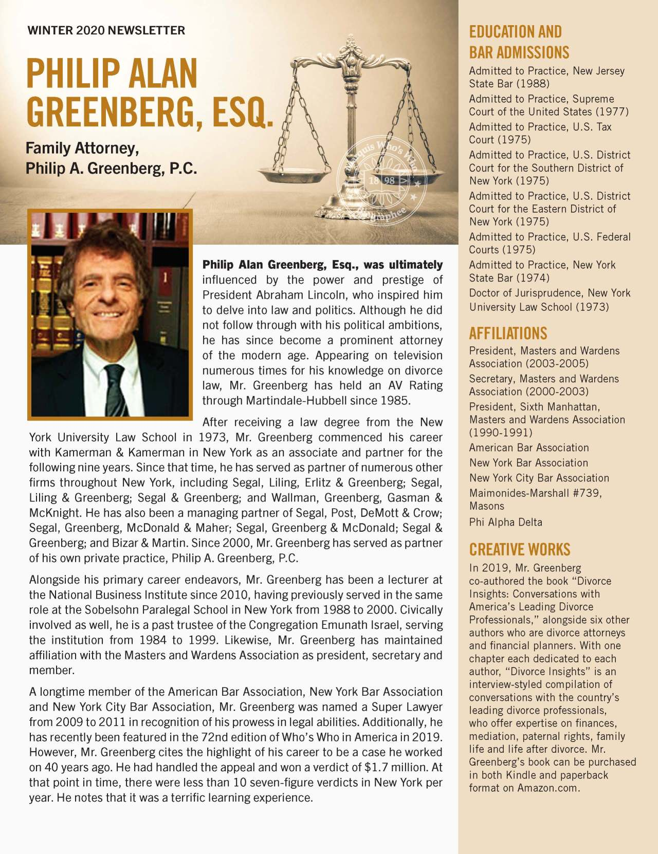 Greenberg, Philip 3794255_16911893 Newsletter