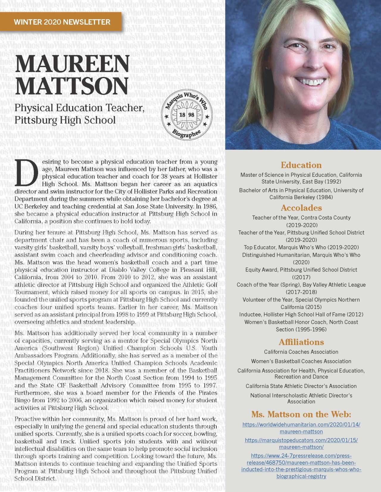 Mattson, Maureen 4786048_4004786048 Newsletter