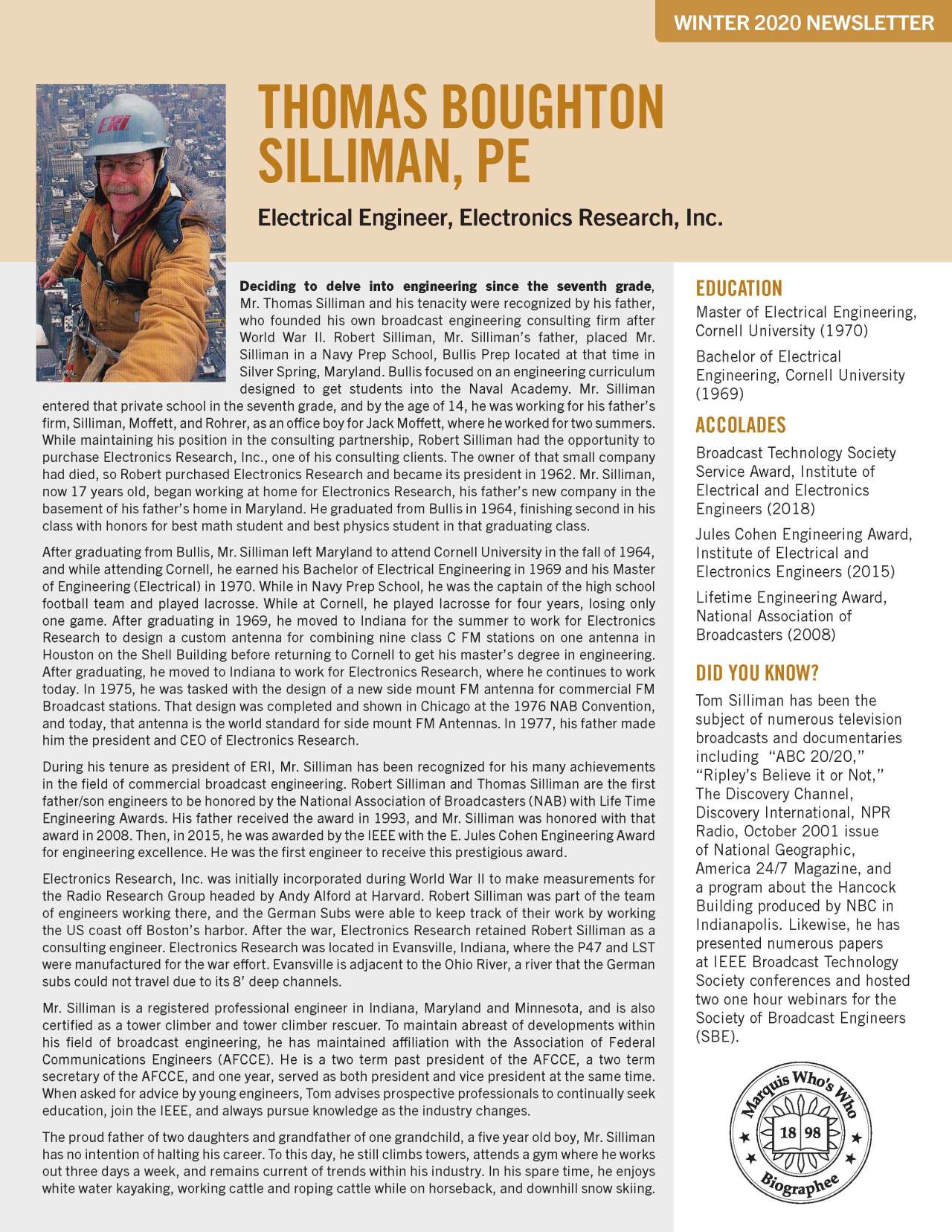 Silliman, Thomas 4562397_27954255 Newsletter
