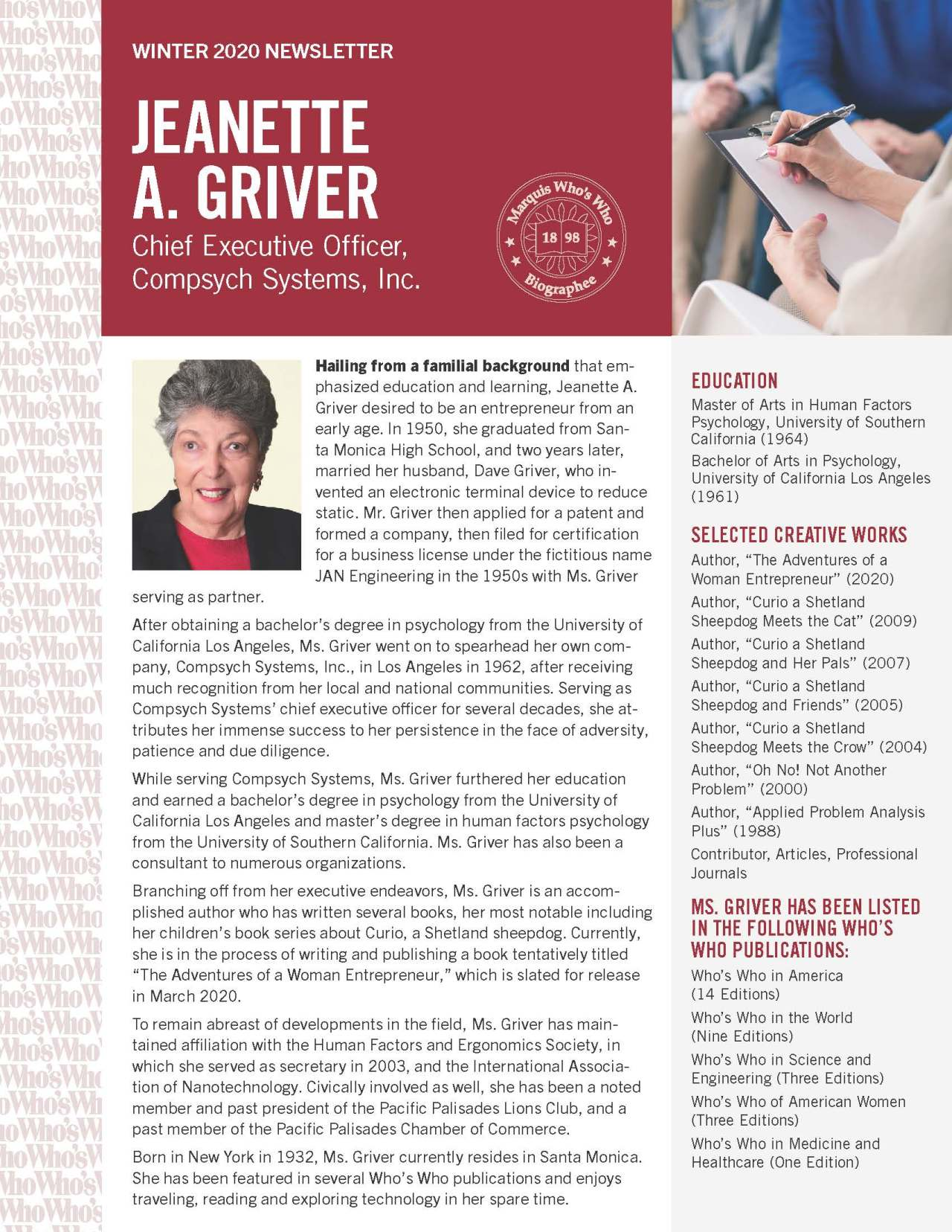 Griver, Jeanette 2131438_30800694 Newsletter REVISED