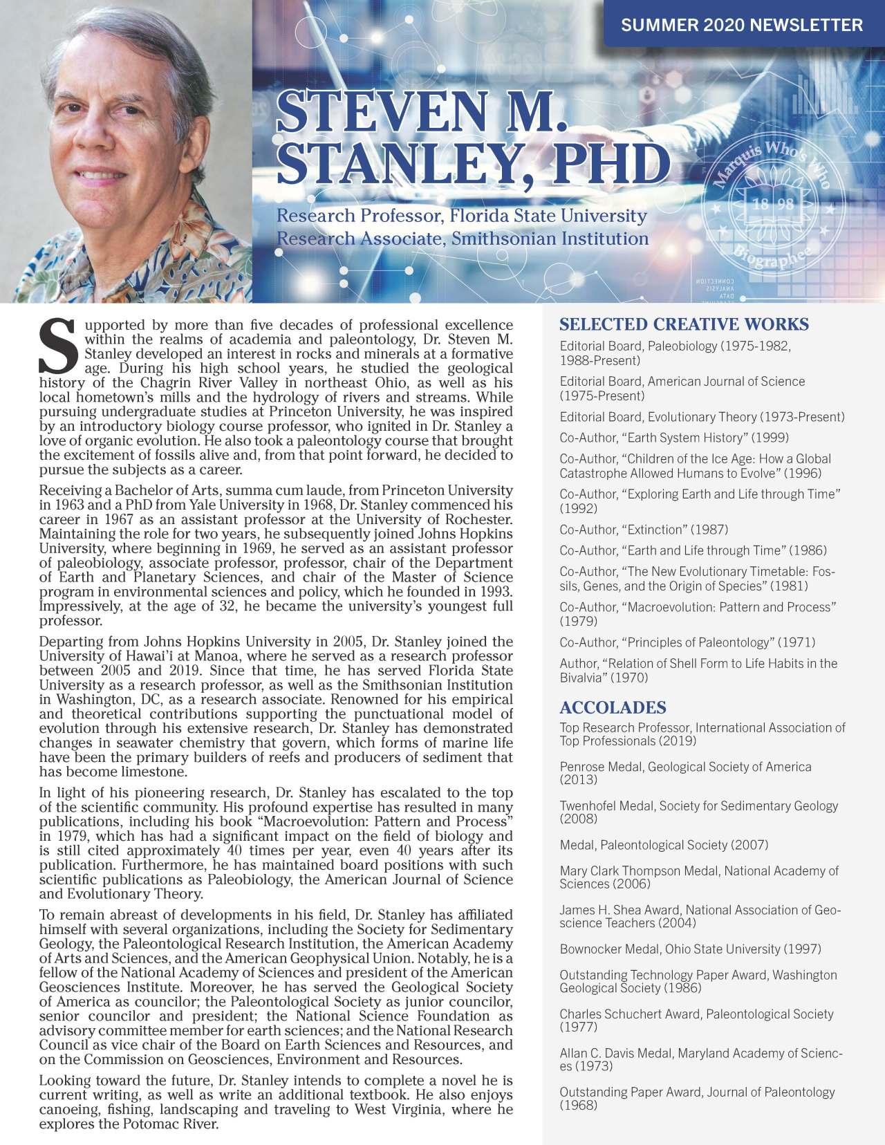 Stanley, Steven 3772925_2639307 Newsletter