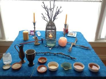 Imbolc altar