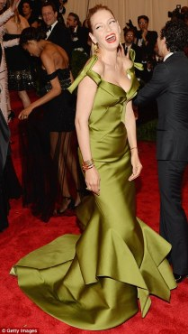 Poison Ivy by name Poison Ivy by nature. Uma Thurman looks radiant in Diane Von Furstenburg