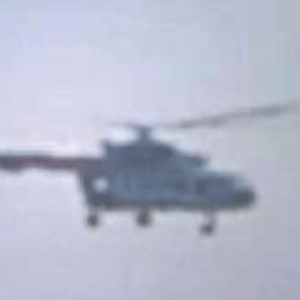 Blurred Lines: A Mexican military chopper in U.S. airspace, photographed by Texas park rangers. Courtesy of WikiLeaks