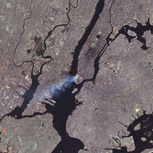A deep state event seen from deep space. New York City, 9/11. NASA Photo