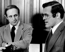 Cheney and Rumsfeld in 1974