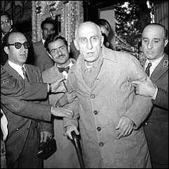 Dr. Mossadeq entering court for his trial.