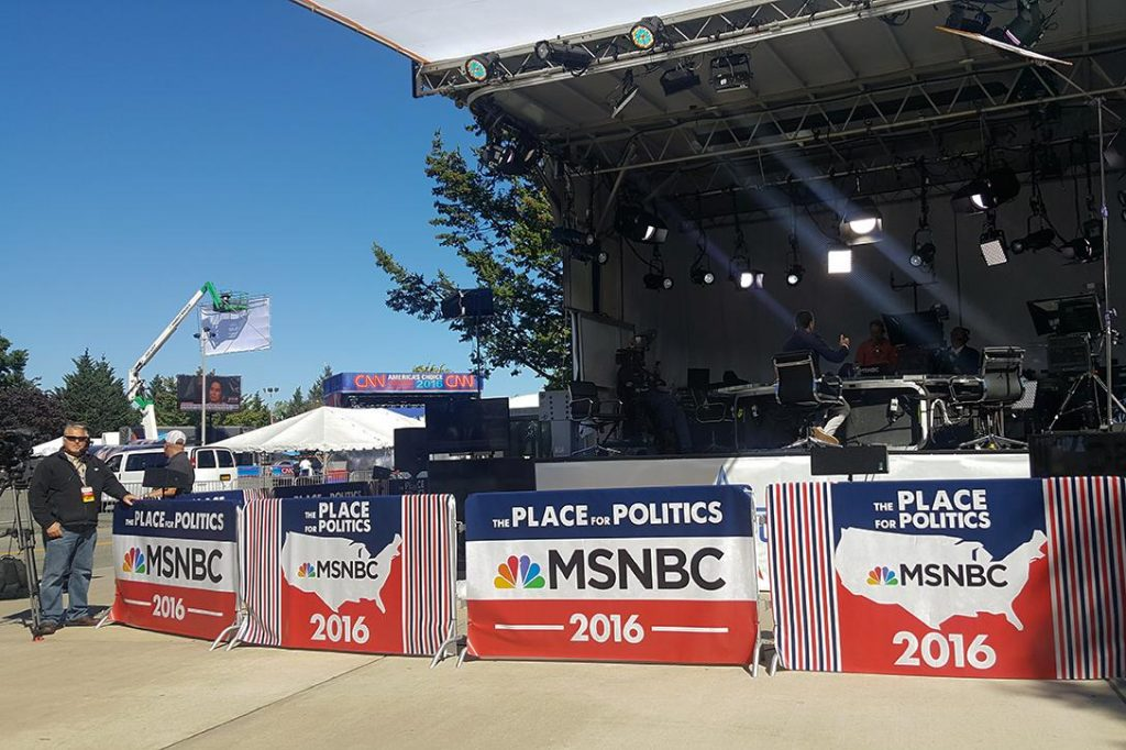 MSNBC set at Hofstra University Photo credit: With permission from Charis Satchell