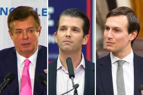 Paul Manafort, Donald Trump Jr, Jared Kushner