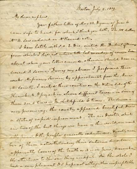 Burr letter