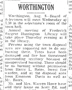 Disposal area regulations as reported in the Springfield Morning Union, August 1955.