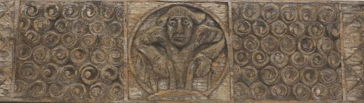 Carved Chestnut Plank, detail