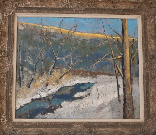 "Deepfreeze in the Berkshires, Westfield Middle Branch Sunset, 29"" x 24"""