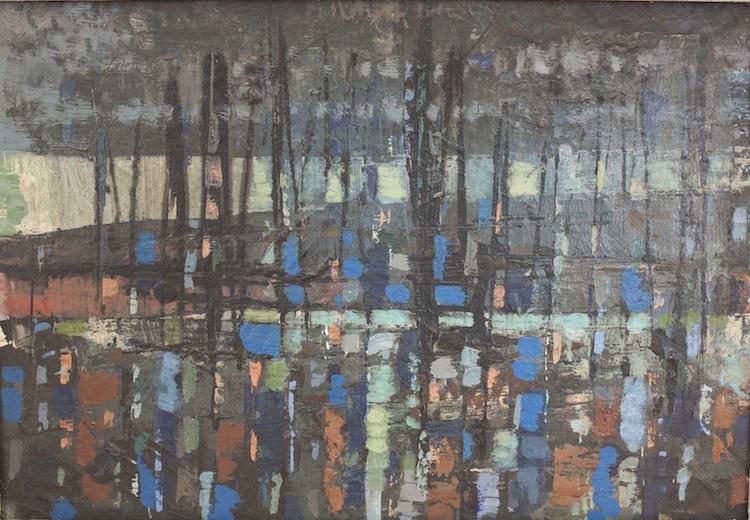 "Landscape at Night, 15"" x 10"""
