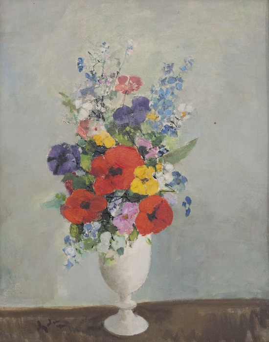 """More Flowers in a White Vase, 15"""" x 19"""""""