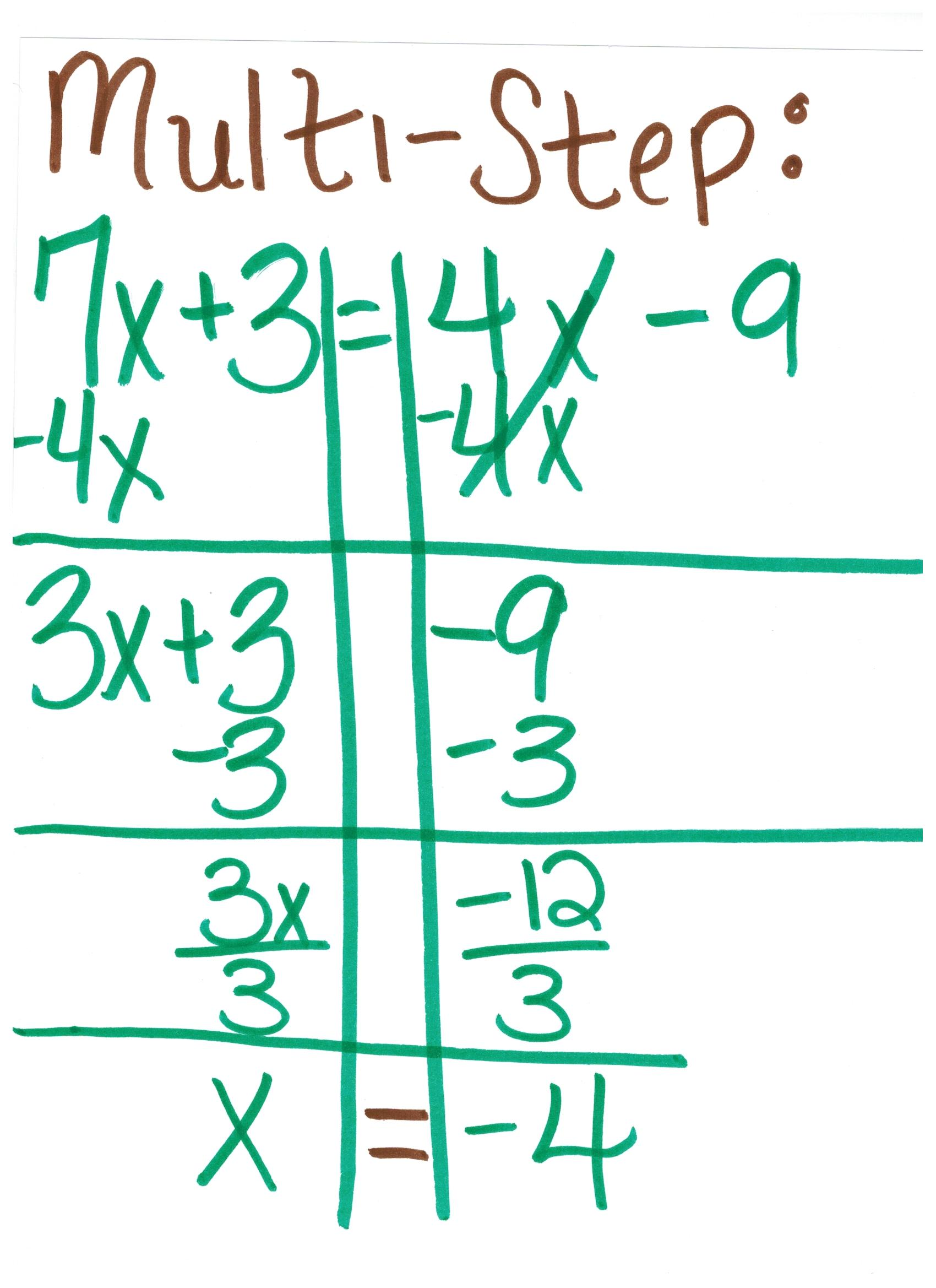 2 Step Equations Examples