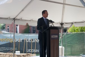 Governor Dannel P. Malloy spoke at the groundbreaking ceremony Wednesday.