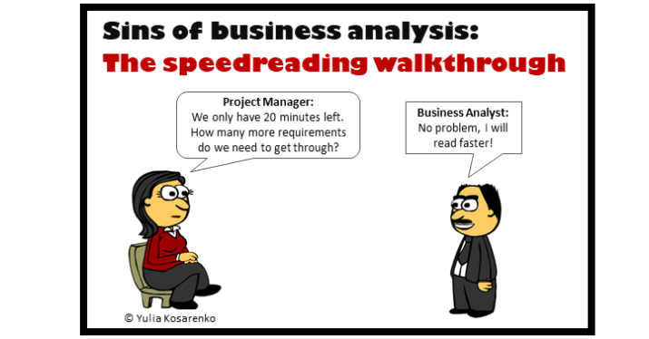 A cartoon with BA saying - only 20 minutes left - I will read faster.