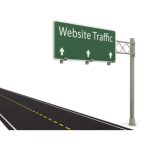 Website traffic street sign